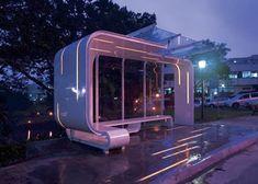 bus stop design Urban Furniture, Street Furniture, Urban Landscape, Landscape Design, Bus Stop Design, Design Commercial, Bus Shelters, Shelter Design, Artistic Installation