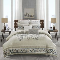 DREAM /& FUN® Home Décor Princeton Tigers Cotton 3 Piece Queen Duvet Cover Set