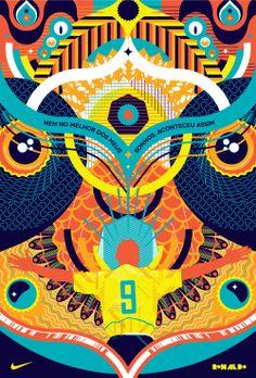 #poster #design Cartazes Nike Brasil by 45jj                                                                                                                                                                                 Mais