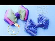 Laço Carla (Laço de fita de gorgurão) by Tatiana Karina DIY/TUTORIAL/PAP/ Ribbon Bow - YouTube
