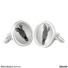 Zebra Head Cufflinks