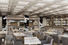 Cтоличный аргентинский ресторан. В интерьере царит классика и стиль, выраженные в чёрно-белых тонах, простых линиях и изысканных элементах декора #dominanta #architecturalbureau #restaurant #blackandwhitetones