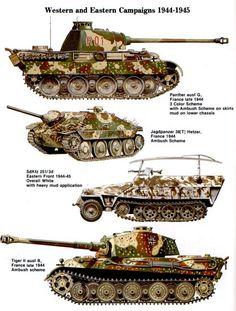 Verschiedene Tarnungen WW2