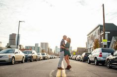 Ally & Kyle   Engagement Shoot   Engaged   RINO District   Denver, Colorado   Downtown   Vintage Style   Street Art   musicians   Tayler Carlisle Photography   tayler.carlisle@gmail.com   www.taylercarlisle.com  