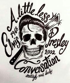 Elvis greaser skull