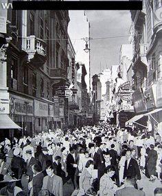 Década de 1950 - Rua Direita.