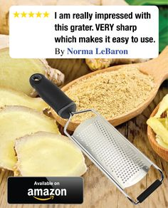 This grater is far superior to the one it replaces! Grates ginger like a dream! Click image to order.