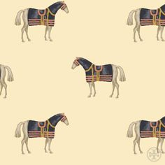 Pony tale: This equestrian print is an homage to a childhood horse of Tory's #toryburch #toryfall14  #nyfw