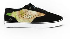Emerica Provost Toy Machine Skate Shoes - black/blue/white - Free Shipping
