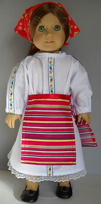 "Fits American Girl 18"" doll clothes Romania Romanian folk dress B (COSTUME ONLY)"