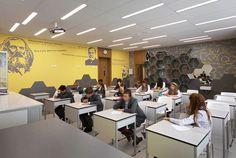 Вдохновляющий интерьер школы в Киеве