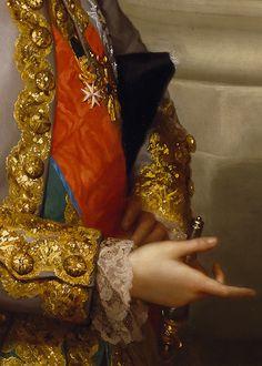 ca Anton Raphael Mengs (German; ~ 'Infante Gabriel of Spain' (detail) Old Paintings, Beautiful Paintings, Anton, Classical Art, Detail Art, Historical Costume, Rococo, Oeuvre D'art, Gabriel