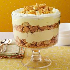 Lemon Delight Trifle Recipe -I like to serve this lemony treat is a trifle bowl. If you don't have one, a glass 13-in. x 9-in. dish will also work well. —Kim Wallace, Dennison, Ohio