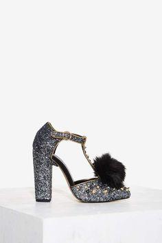 Nasty Gal Evelyn Glitter Heel
