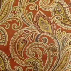 Green House CINNAMON Print Upholstery Fabrics Fabric 99002 Greenhouse Fabrics, Living Room Redo, Curtain Fabric, Curtains, Paisley Design, Swatch, Cinnamon, Upholstery Fabrics, Patterns
