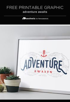 Free Map-Inspired Printable: Adventure Awaits