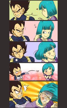 vegeta memes dragon ball memes dbz memes weebs otakuthat saiyan kiss LMAO vegeta and bulma. vegeta and bulma funny Manga Dbz, Dragon Ball Z, Dbz Memes, Funny Dragon, Anime Kawaii, Kiss, Random, Cute Comics, Cool Animations