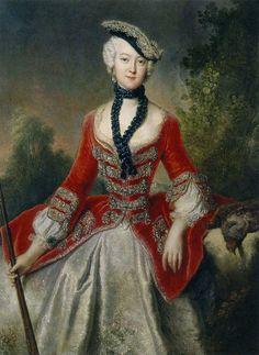 Sophie Marie Gräfin von Voss (1729-1814) | Antoine Pesne | Schloss Charlottenburg (Berlin)