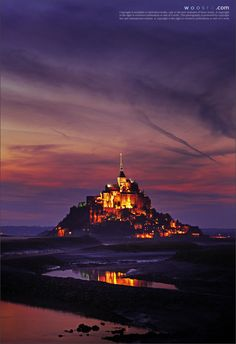 Mont St Michel, Normandy, France, I've actually been but if I'm ever back in France I would love to explore it more, perhaps with a romantically inclined man...