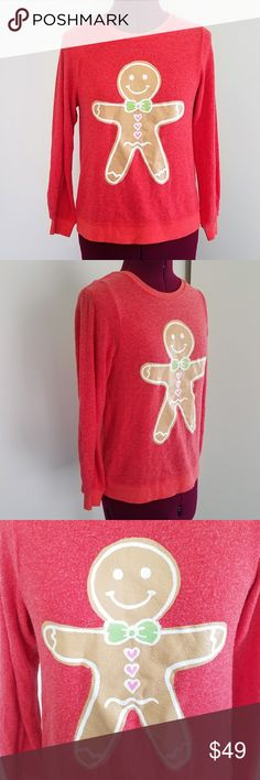 Wildfox Kids Gingerbread Man Holiday Baggy Jumper Wildfox Kids Gingerbread Man Holiday Baggy Jumper  - long sleeve - fuzzy texture - would fit women's small also  - new with tags  Approximate measurements laying flat:  length - 22.5 inches pit to pit - 16.5 inches Wildfox Shirts & Tops Sweatshirts & Hoodies