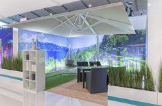 R+T Exhibit 2015 Stuttgart - Uhlmann Umbrella Commercial Umbrellas, Exhibit, Oasis, Germany, Outdoor, Stuttgart, Outdoors, Outdoor Games, Deutsch