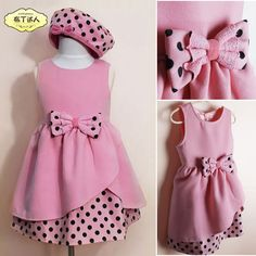 Find More Vestidos Information about niñas otoño invierno vestido coreano niños 2014 lazo rosa vestido de princesa Little Dresses, Little Girl Dresses, Girls Dresses, Cheap Dresses, 50s Dresses, Elegant Dresses, Peasant Dresses, Baby Dresses, Dress Girl