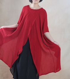 Linen Top in Red