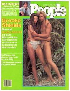 Brooke Shields and Christopher Atkins People magazine cover August 11, 1980.