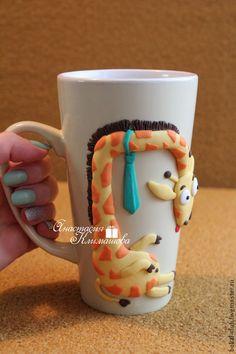 Купить Жираф Жирафыч - желтый, чашка, чашка с росписью, жирафик, жираф, чашка для чая