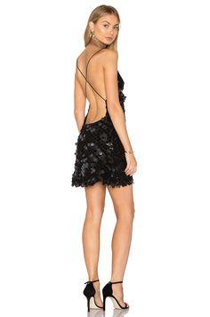 Motel Purpura Dress in Black Velvet Disk Sequin | REVOLVE
