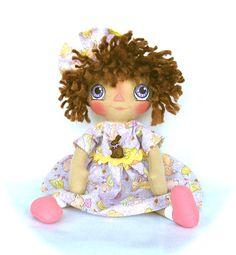 Primitive Raggedy Ann Doll Easter Spring  castteam via Etsy
