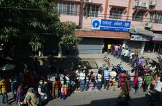 Hundreds of thousands of Indians are queuing to exchange invalid banknotes.  The government of India has decided to abolish the two most used banknotes to reduce corruption and 'black money'.