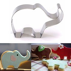 2 PcsElephant Animal Stainless Steel Cookie Cutter Cake Baking Biscuit Pastry Mould Cake Tools * This is an Amazon Affiliate link. Want to know more, click on the image.