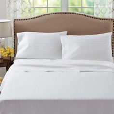 Better Homes And Gardens 400 Thread Count Damask Pillowcase, White