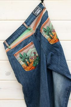 Our exclusive RD denim line is comfortable and trendy! The denim has a nice stretchy feel with a trouser-like fit. Painted Jeans, Painted Clothes, Rodeo Outfits, Cool Outfits, Flare Jeans Outfit, Reuse Clothes, Rodeo Shirts, Custom Clothes, Diy Fashion