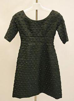 1960s Givenchy Cocktail dress Metropolitan Museum of Art, NY. See more vintage dresses at www.vintagefashionandart.com/dresses
