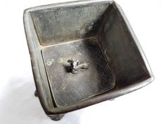 Antique Lead Tobacco Jar Box
