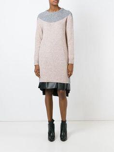 Kenzo, round neck sweater dress