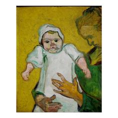 Madame Roulin with Baby by Vincent Van Gogh Perfect Poster