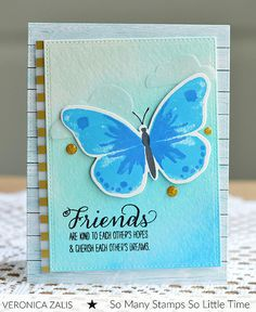 Friend Card using Watercolor Wings by Veronica