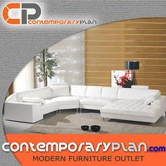 Modern White Leather Sectional Sofa with Oversized Chaise Clean Italian Design   eBay