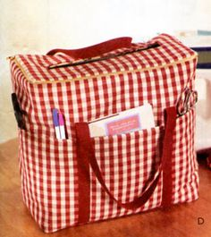 SEWING & CRAFT ROOM Pattern - Sewing Machine Carrier Case Organizers Iron Bag Accessories. $8.94, via Etsy.