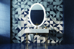 """Beauty is not in the face; beauty is a light in the heart. Backlit Mirror, Led Mirror, Oval Mirror, Mirrors, Mirror Vanity, Face Beauty, Diffused Light, Bath Vanities, Washroom"