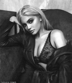 What a tease! Kylie Jenner wears sheer lingerie in racy new shoot to unveil launch date for mystery online store