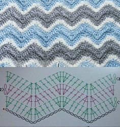 Discover thousands of images about Crochet Ripple Stitch Patterns ⋆ Crochet Kingdom Chevron Crochet Patterns, Zig Zag Crochet, Crochet Ripple Blanket, Crochet Vest Pattern, Crochet Diagram, Crochet Stitches Patterns, Crochet Chart, Crochet Motif, Crochet Designs