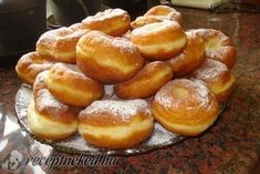 Hungarian Recipes, Pretzel Bites, Donuts, Cake Recipes, Muffin, Goodies, Food And Drink, Bread, Baking
