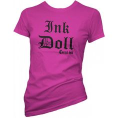 Women'S Cartel Ink Ink Doll T-Shirt Pink Inked Tattooed Tattoo Lifestyle