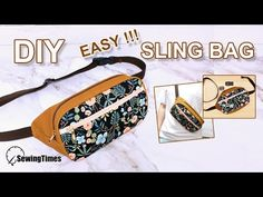 I made SLING BAG today. Share this video with a lot of people who need it. Fanny Pack Pattern, Pouch Pattern, Coin Purse Tutorial, Zipper Pouch Tutorial, Hip Bag, Bag Patterns To Sew, Patchwork Bags, Fabric Bags, Sewing Tutorials