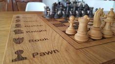 Eiken schaakbord made by Job