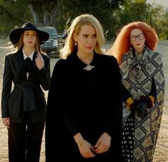 Zoe, cordelia and myrtle Jimmy Darling, Kyle Spencer, Frances Conroy, American Horror Story Seasons, Coven Fashion, Season Of The Witch, Series Movies, Queen, Best Tv Shows